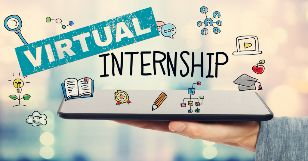 "Graphic reading ""Virtual Internship."""