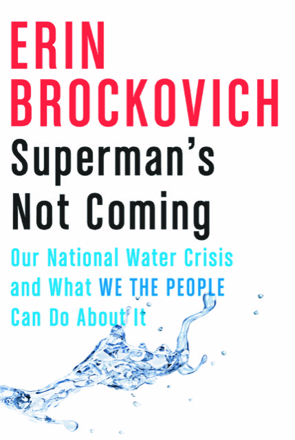 """Cover of """"Superman's Not Coming"""" by Erin Brockovich."""