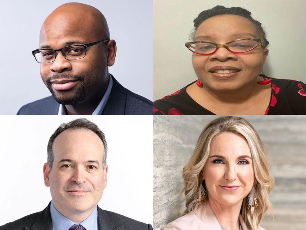 Headshots of new Medill Board of Advisors members.