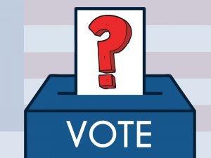 Graphic of a ballot box.