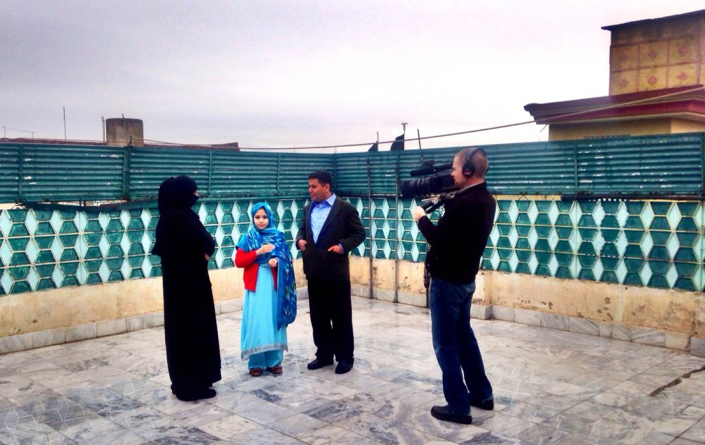 Brent Huffman filming in Pakistan.