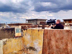 Brent Huffman filming in Pakistan.