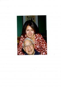 Linda Saran with her dad Sam Saran