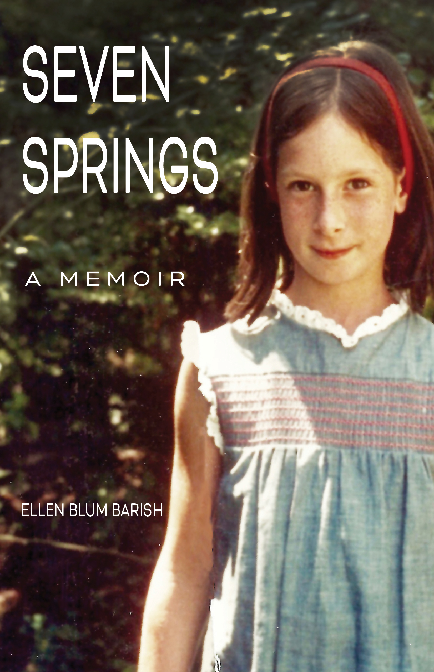 Seven Springs cover with photo of young author.