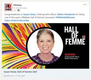 Susan Howe announcement on website for award.