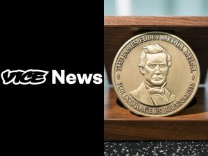 Photo of Medill Medal and Vice News Logo