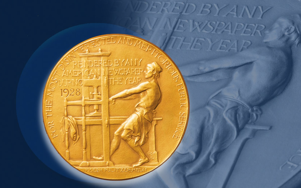 Pulitzer medal image.