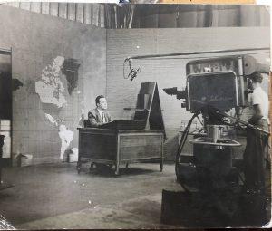 Raymond Nelson in old Medill studio black and white.